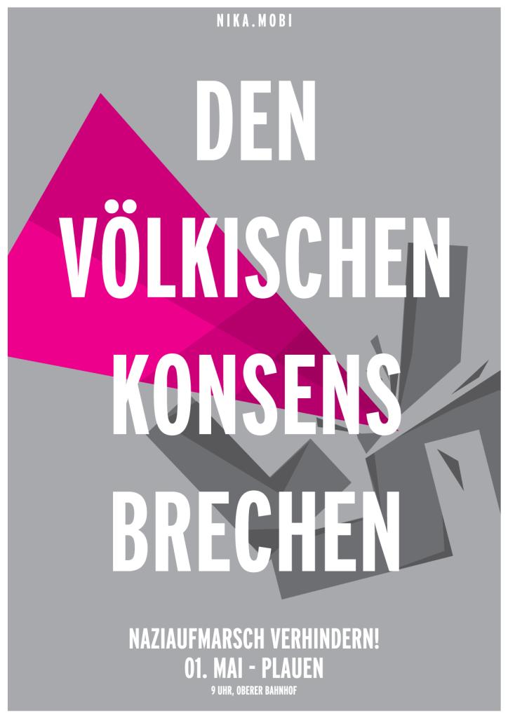 NIKA Plauen 1. Mai Plakat