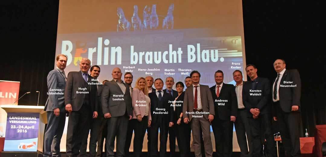Berliner AfD Kandidaten für die Wahlen zum Abgeordnetenhaus