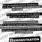 STOP THE RACIST THREAT! NATIONALISMUS BEDEUTET AUSGRENZUNG!