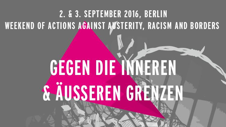 2. & 3. September 2016, bundesweites Aktionswochenende in Berlin