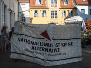 AfD-Pressekonferenz in Flensburg gestört