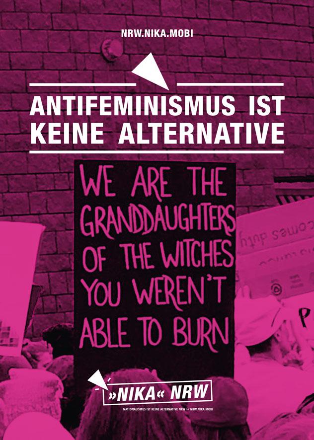 Sexismus und Maskulinismus sind keine Alternative!