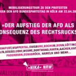 Mobilisierungstour zu den Protesten gegen den AfD Bundesparteitag in Köln am 22.04.2017