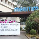Aktionstag gegen die Vermietung an die AfD durch die Maritim-Hotelkette in Bad Salzuflen