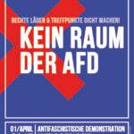 Kein Raum der AfD: Demo in Weißensee