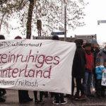 Aukrug: Antifaschistisches Warm-Up für den Gauland-Besuch