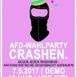 Kiel: Die AfD-Wahlparty crashen – Gegen jeden Rassismus!