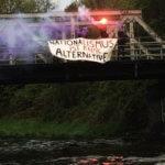 Lübeck: Transpiaktion gegen AfD-Wahlkampf