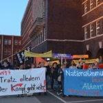 Oberhausen: Spontandemonstration zur Bundestagswahl