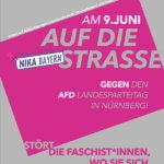 Gegen den AFD-Landesparteitag in Nürnberg