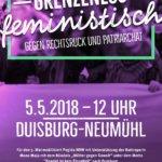 Duisburg 5.5. Demo gegen Rechtsruck und Patriarchat