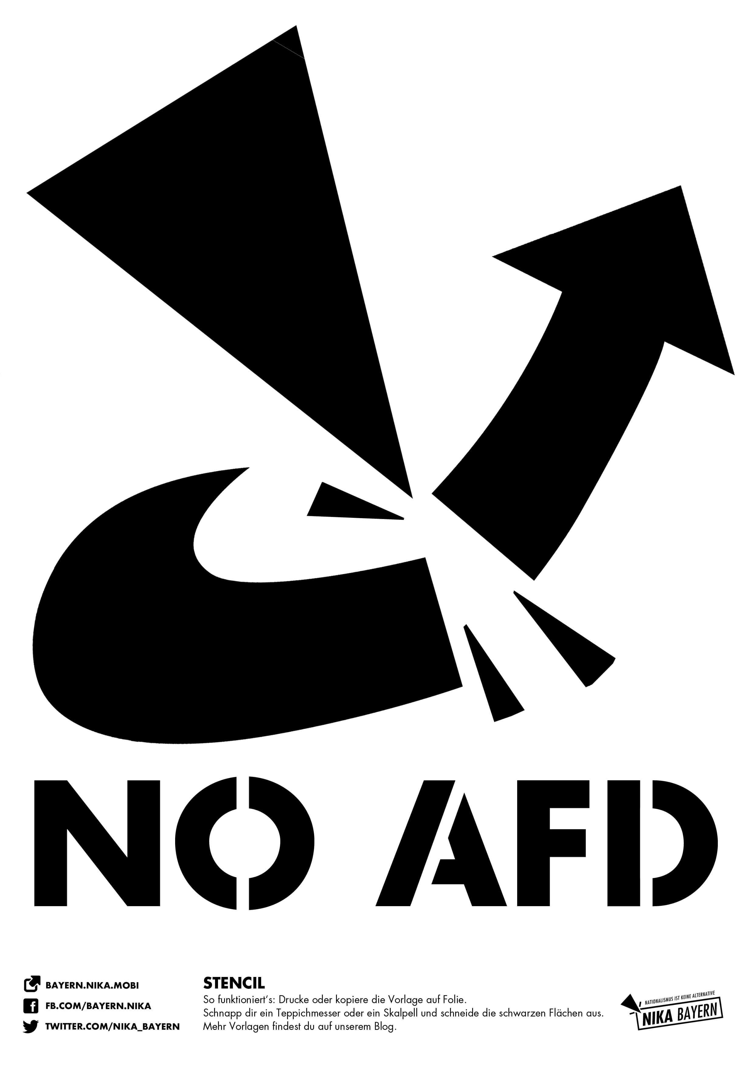 Stencil-Vorlagen – Nationalismus ist keine Alternative