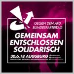 Gegen den AfD-Bundesparteitag in Augsburg