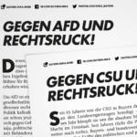 Flyer zu CSU und AfD